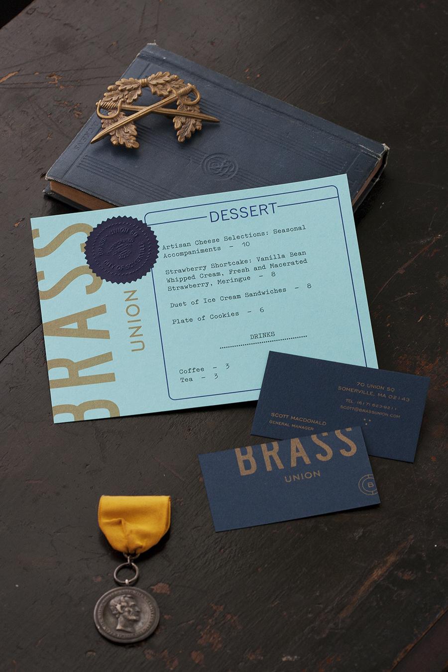 Brass Union餐厅vi设计,品牌设计