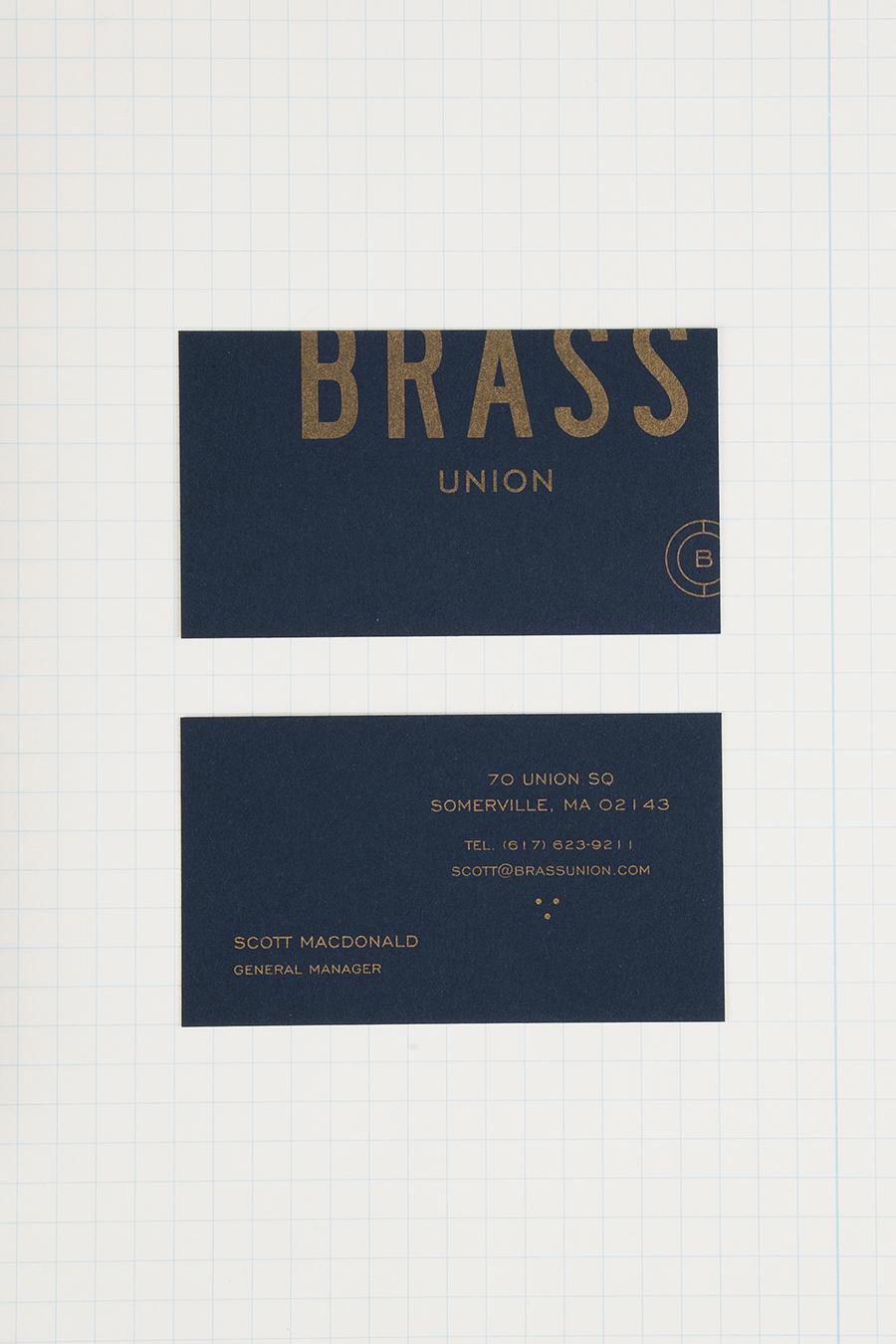 Brass Union餐厅vi设计,品牌设计,名片设计