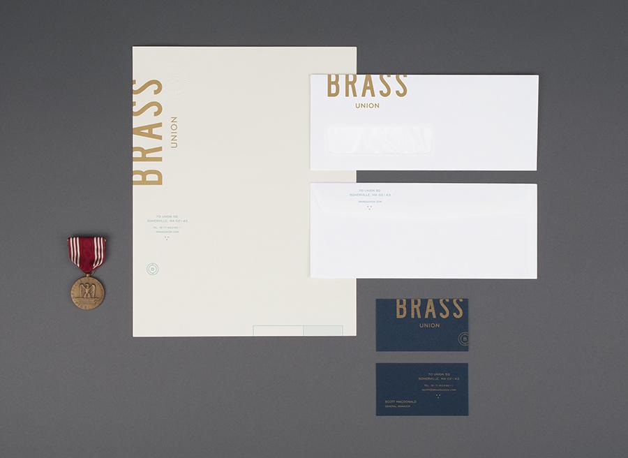Brass Union餐厅vi设计,品牌设计,办公应用设计