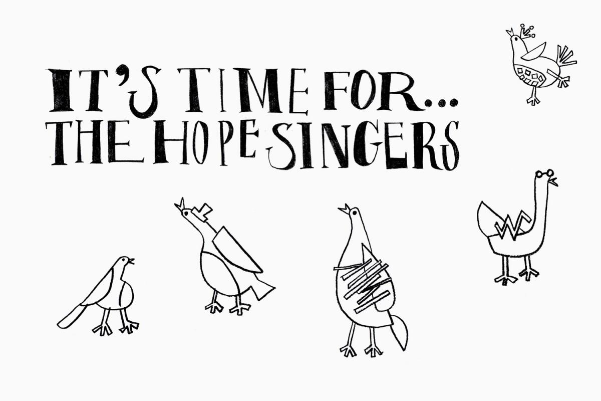 Hope Singers歌手专辑平面广告设计,形象设计