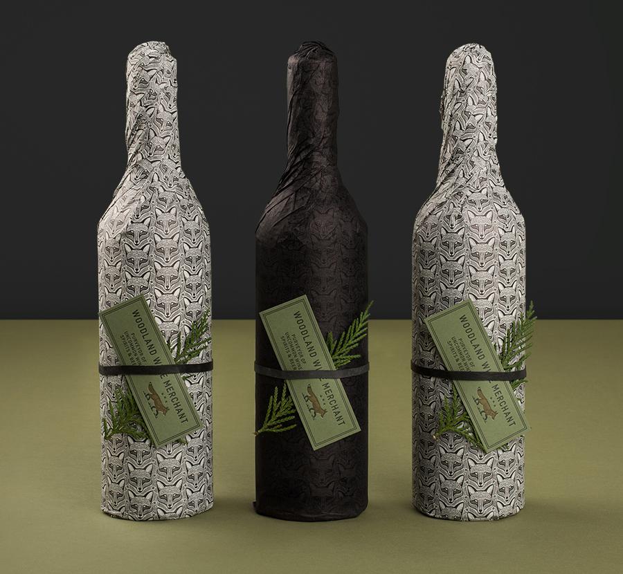 Woodland葡萄酒品牌vi设计和包装设计,包装设计