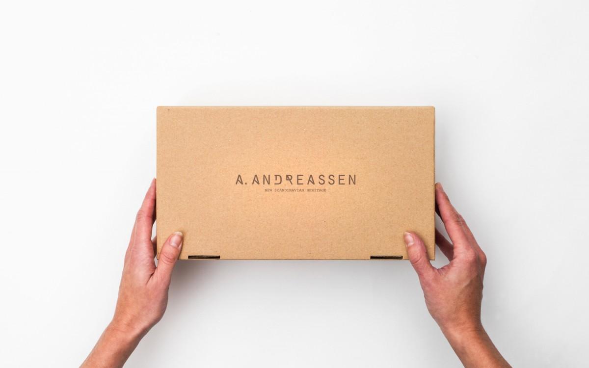 A. Andreassen品牌logo设计和包装设计