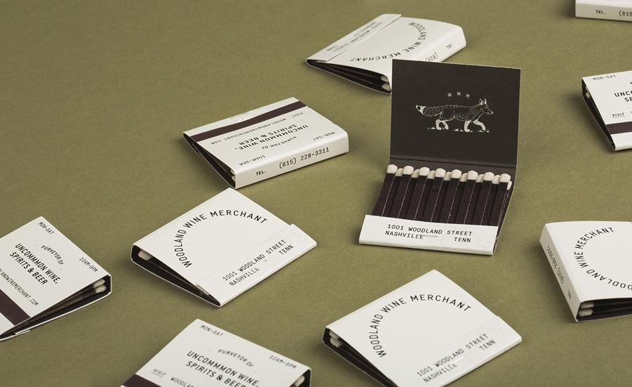 Woodland葡萄酒品牌vi设计和包装设计,火柴包装设计