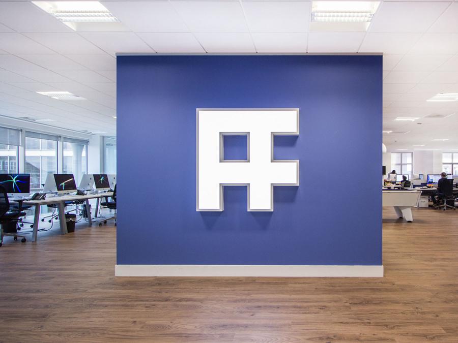 英国AF猎聘公司vi设计,字母组合logo设计,背景墙设计
