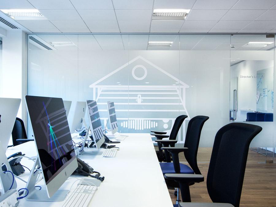 英国AF猎聘公司vi设计,字母组合logo设计,办公空间设计