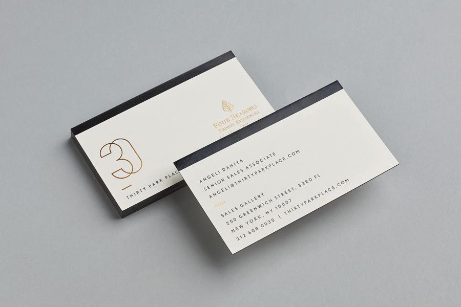 四季酒店私人住宅品牌形象设计,地产vi设计,名片设计