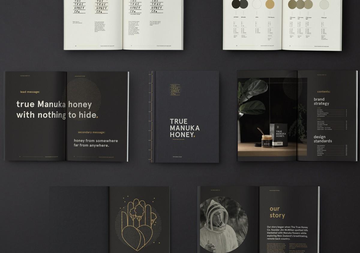 蜂蜜公司mānuka蜂蜜品牌包装设计,画册设计