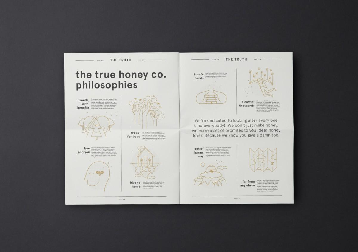 蜂蜜公司mānuka蜂蜜品牌包装设计,杂志设计