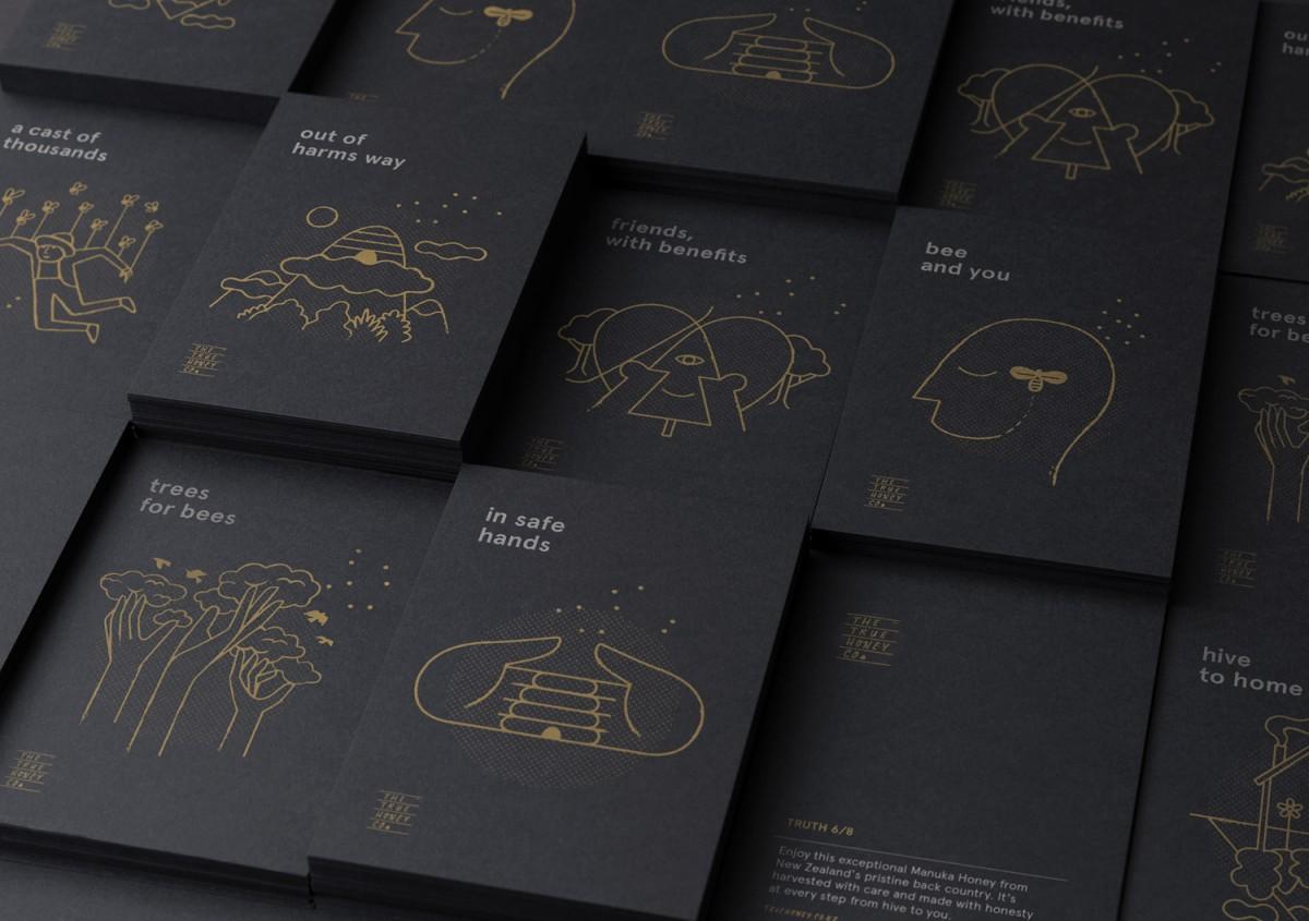 蜂蜜公司mānuka蜂蜜品牌包装设计,名片设计
