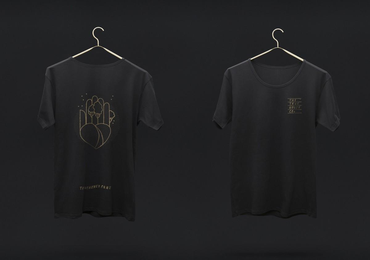 蜂蜜公司mānuka蜂蜜品牌包装设计,T恤设计