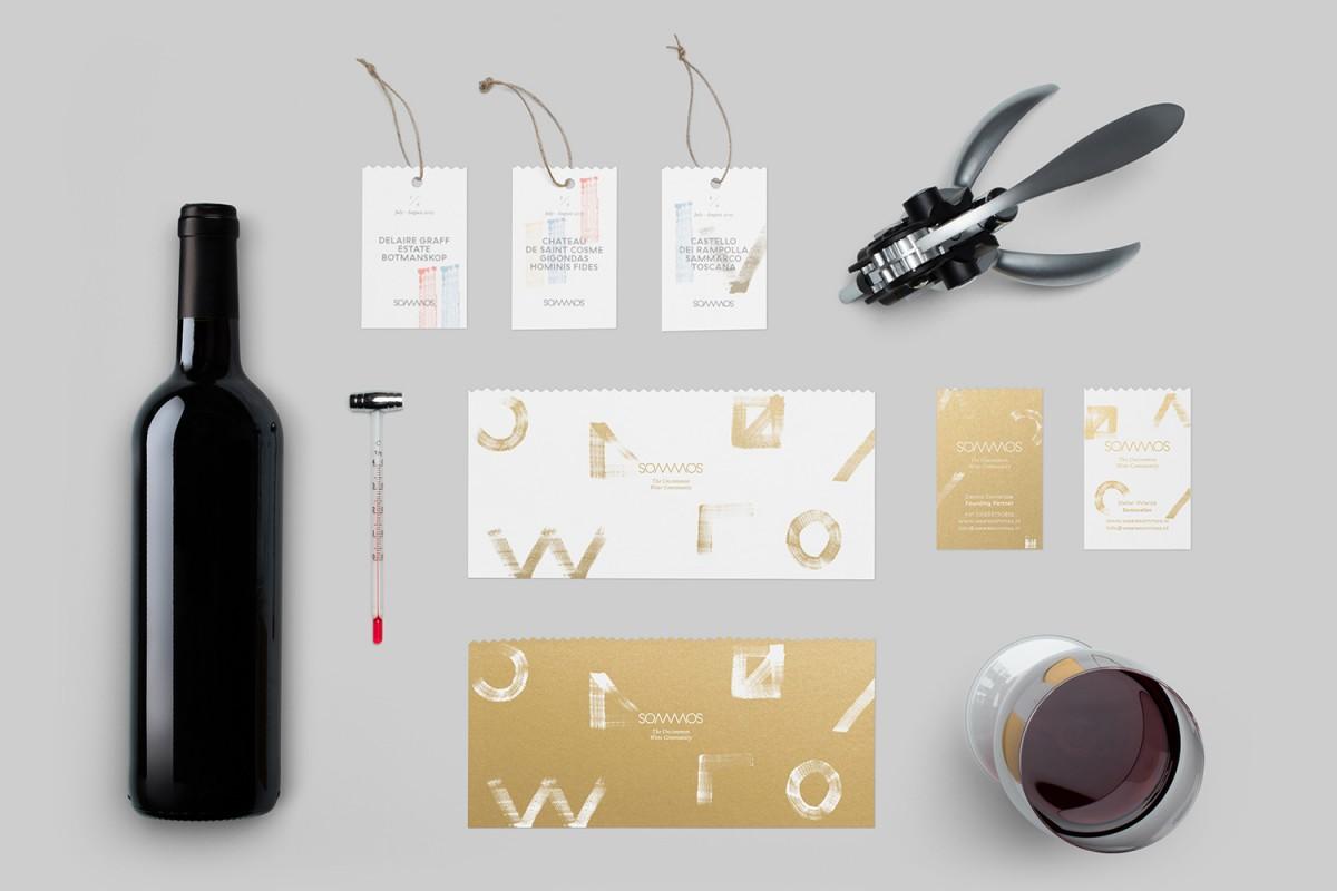 荷兰Sommos葡萄酒包装设计,品牌形象塑造