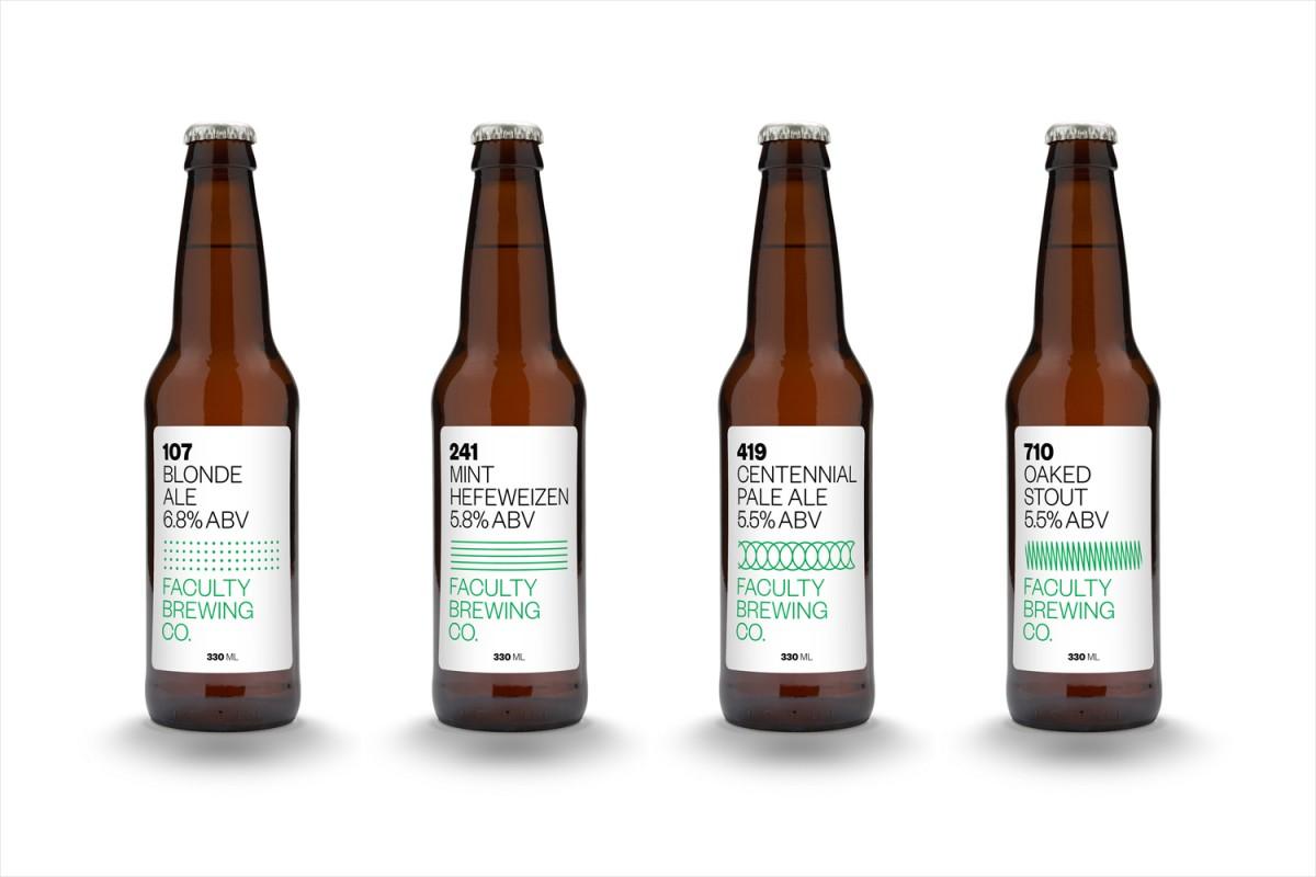 温哥华Faculty啤酒公司产品包装设计,产品品牌形象塑造