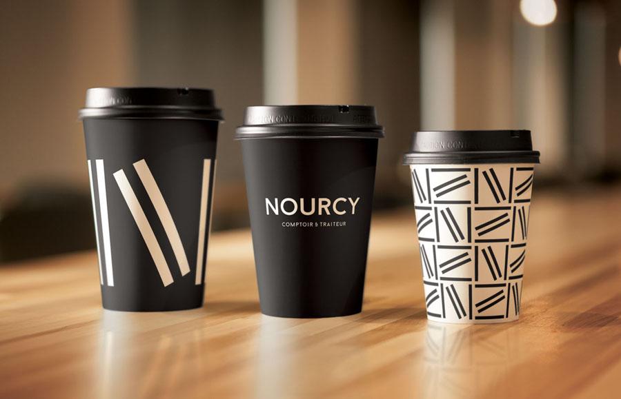 快餐品牌Nourcy餐饮品牌全案设计,杯子设计