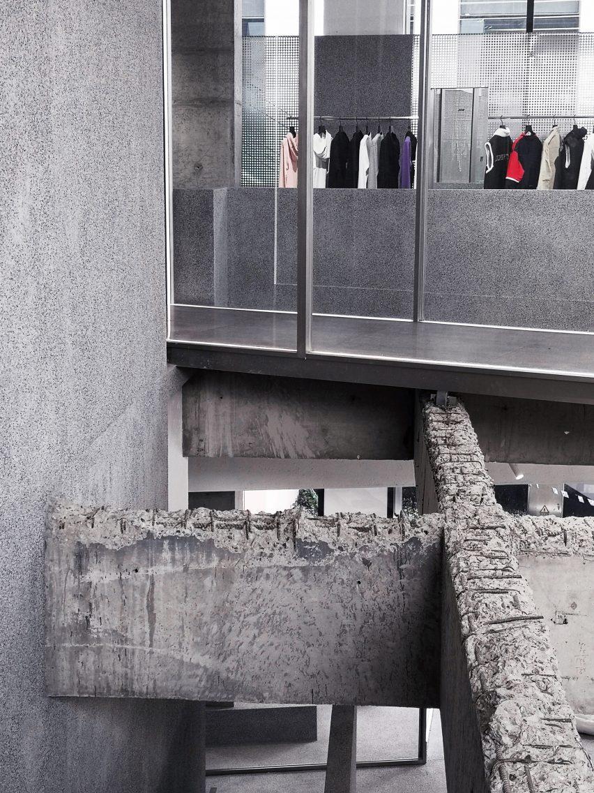 JHW男装店创意空间设计,全灰色的美感
