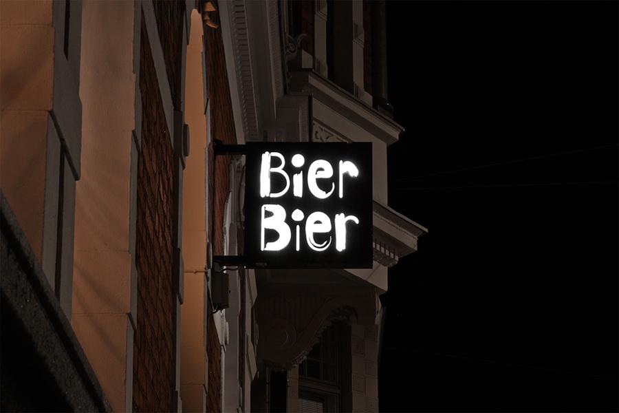 Bier Bier酒吧品牌形象塑造,vi设计,化外招牌设计