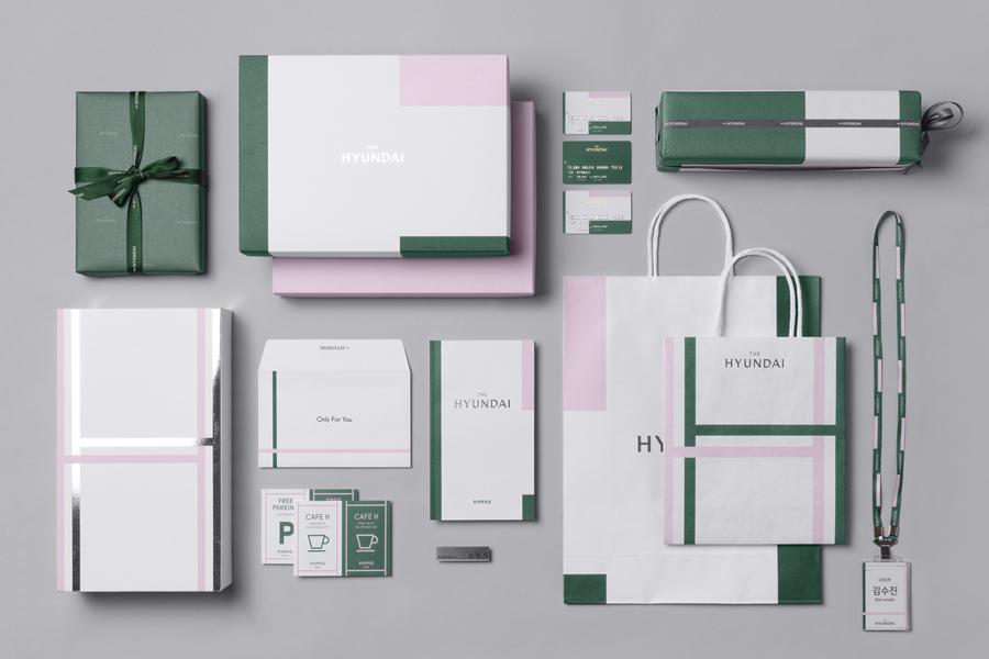 韩国著名百货商店TheHyundai公司vi设计,