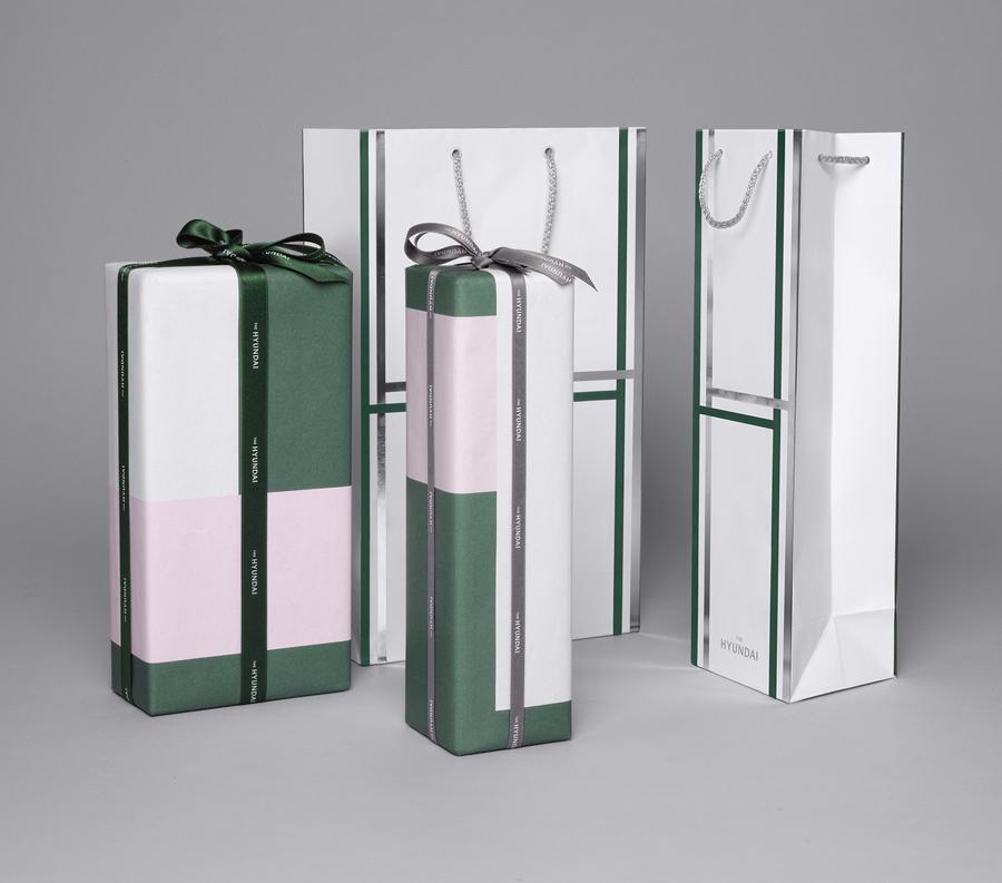 韩国著名百货商店TheHyundai公司vi设计,手提袋,礼品包装设计