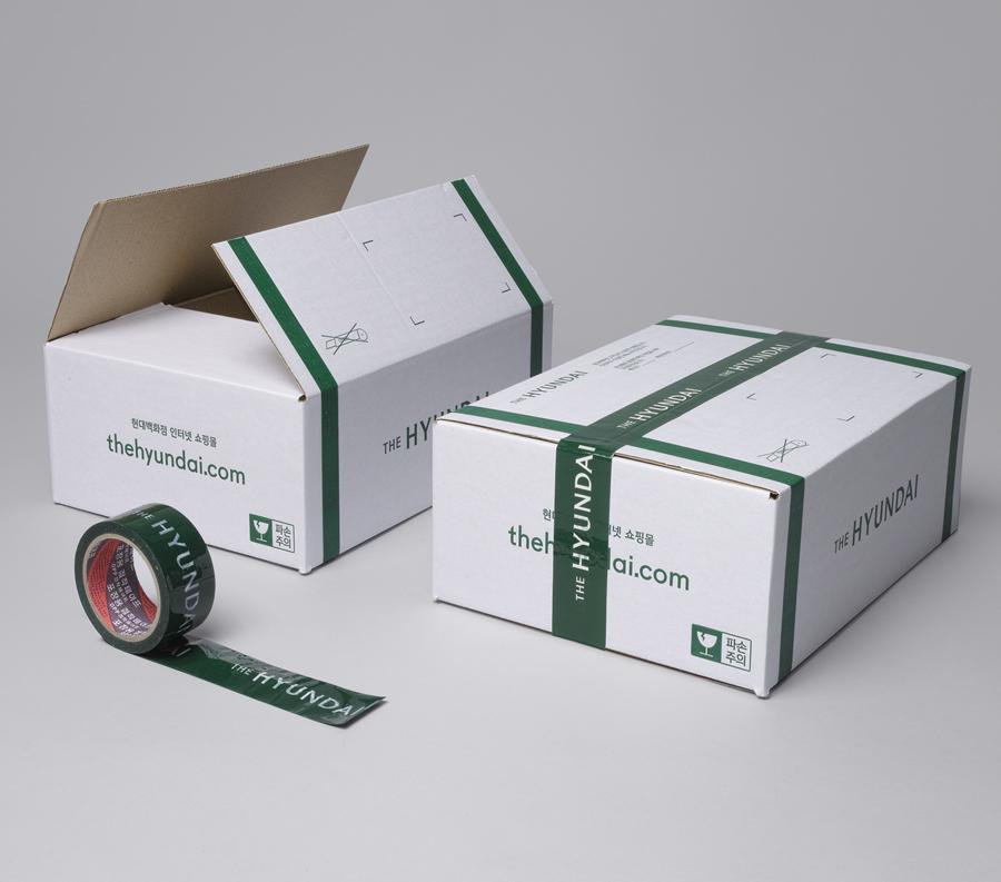 韩国著名百货商店TheHyundai公司vi设计,包装箱设计