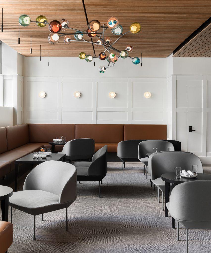 西雅图高档意大利餐厅设计,干净利落木制风格
