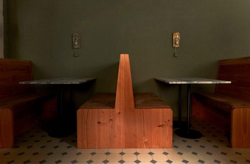 哥本哈根Yaffa餐厅空间设计,从法国咖啡馆中汲取灵感