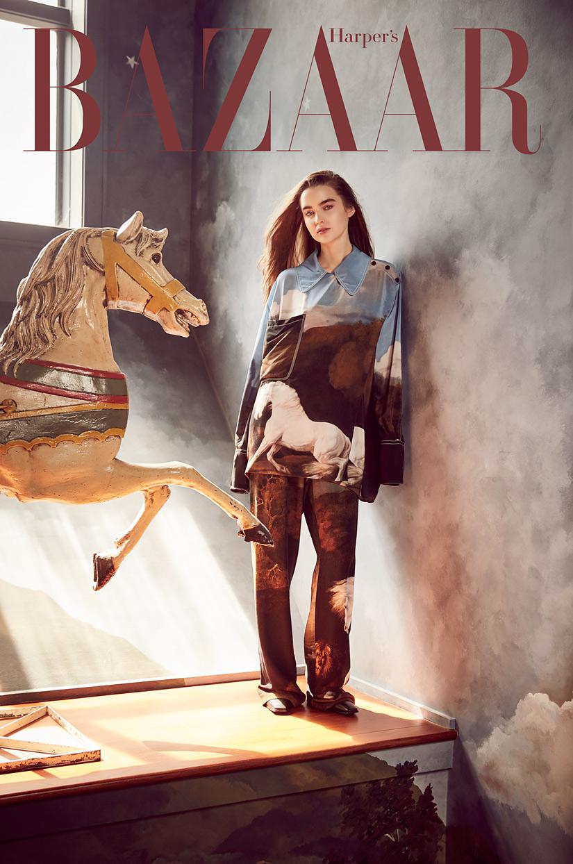 Bazaar封面时尚人物摄影