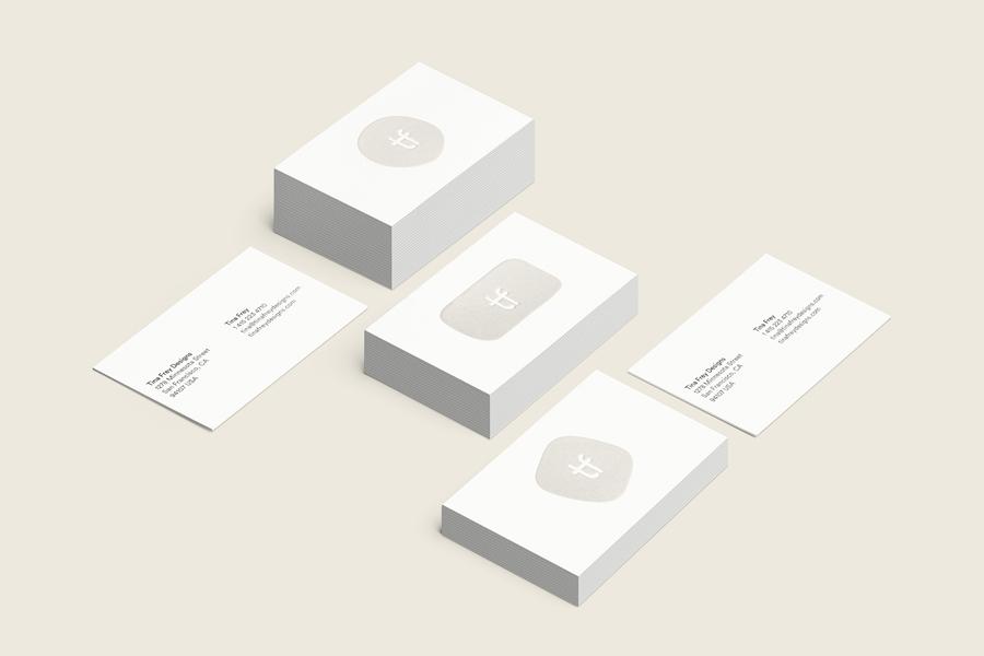 Tina Frey家居设计公司vi设计,名片设计