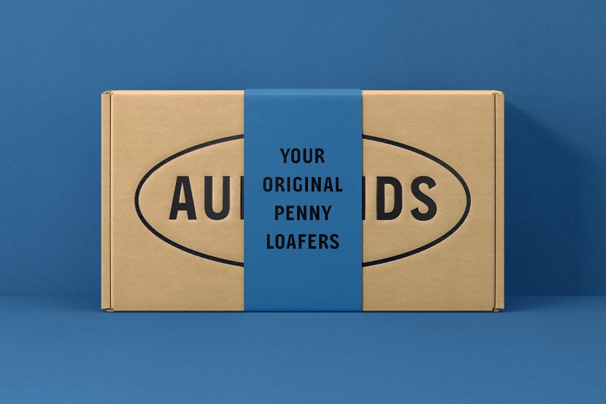logo design, branding and packaging designed by Heydays for Norwegian shoemaker Aurlands