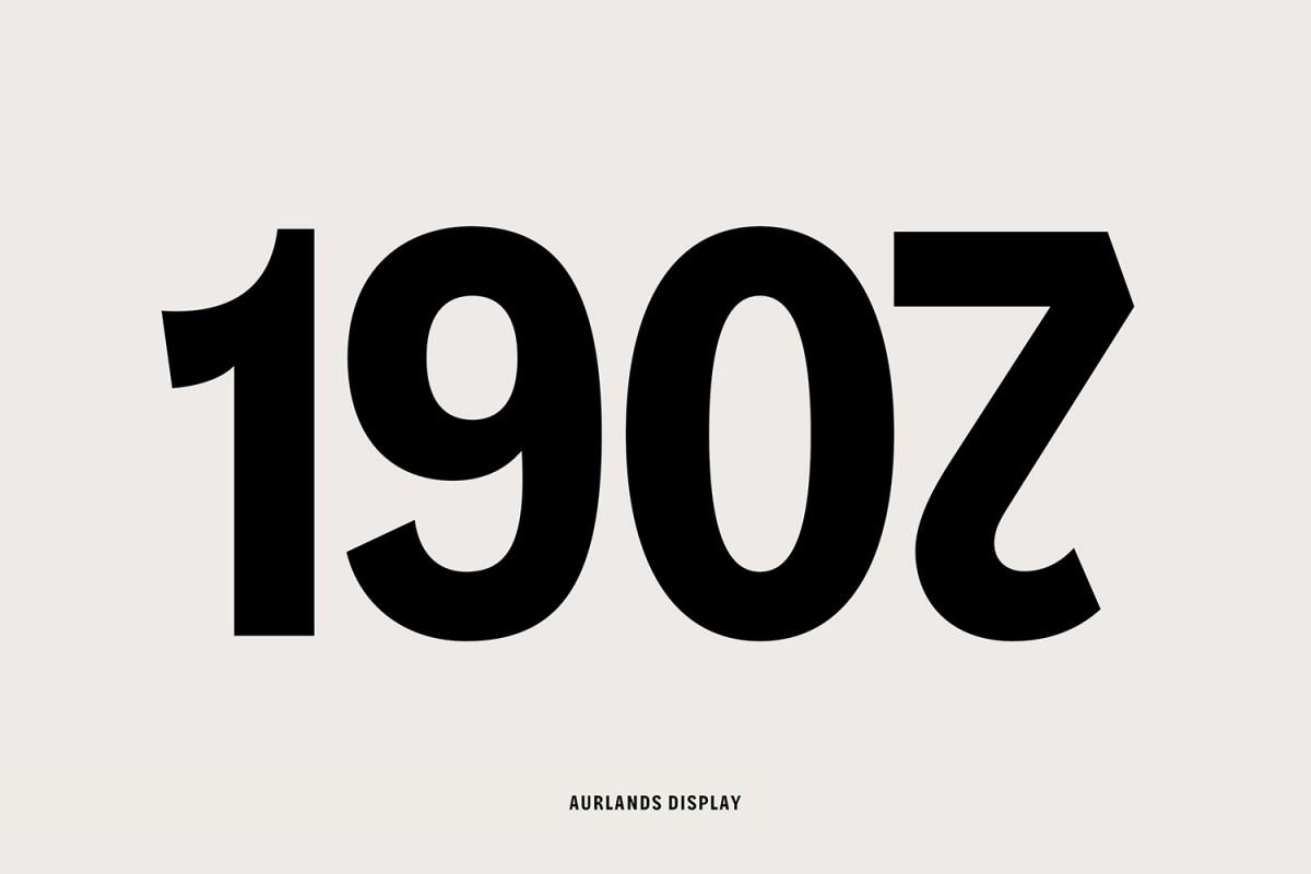 Custom typeface designed by Heydays for Norwegian shoemaker Aurlands