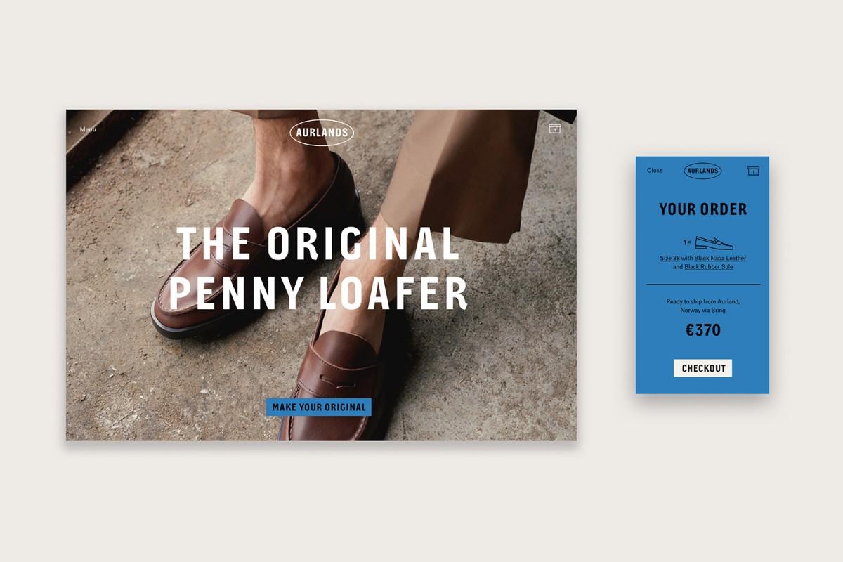 logo , branding, packaging and website designed by Heydays for Norwegian shoemaker Aurlands