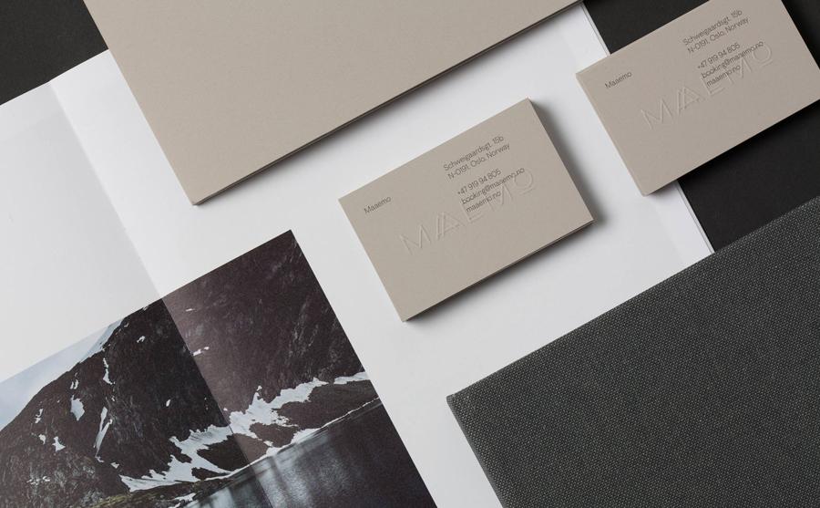 挪威Maaemo米其林餐厅vi设计,餐饮品牌设计,名片设计