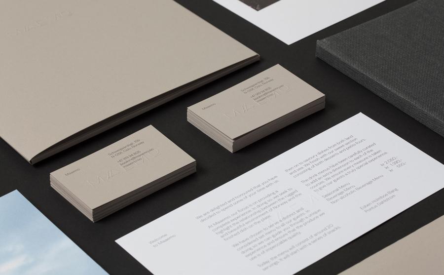 挪威Maaemo米其林餐厅vi设计,餐饮品牌设计,办公应用设计
