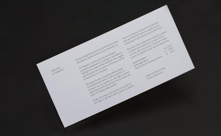 挪威Maaemo米其林餐厅vi设计,餐饮品牌设计