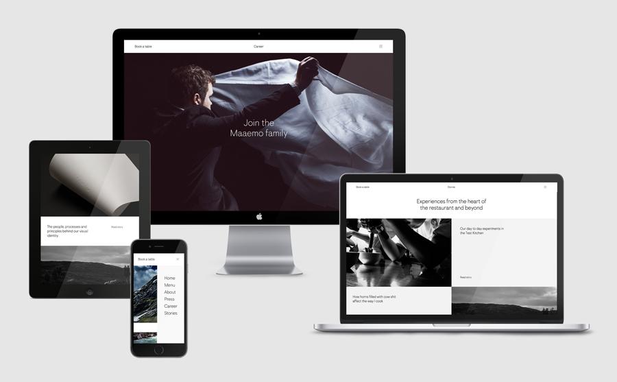 挪威Maaemo米其林餐厅vi设计,餐饮品牌设计,网站设计
