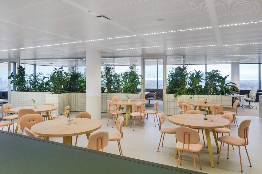 用种植分区来划分办公室设计