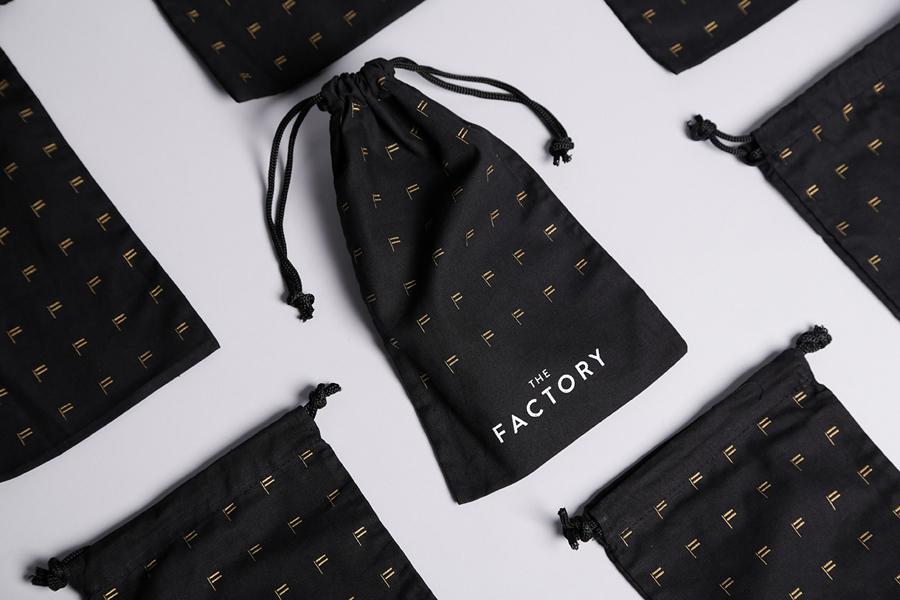 美国factory时装零售品牌vi设计,小袋子设计