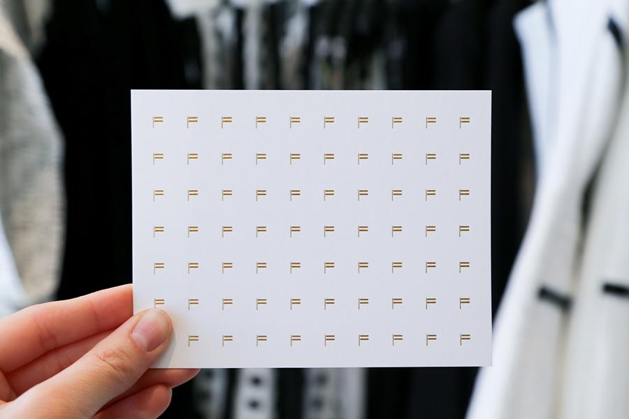 美国factory时装零售品牌vi设计,卡片设计