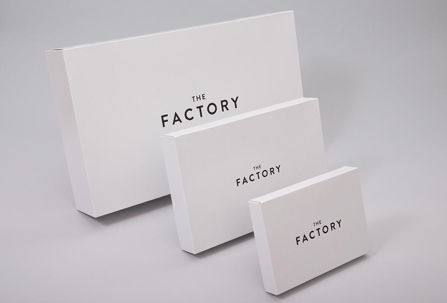 美国factory时装零售品牌vi设计,包装设计
