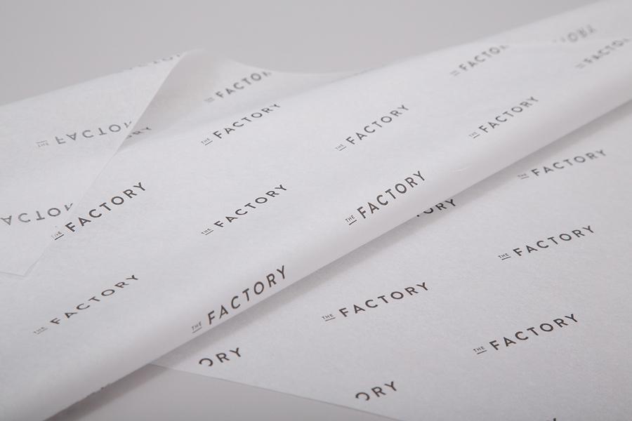 美国factory时装零售品牌vi设计,包装纸设计