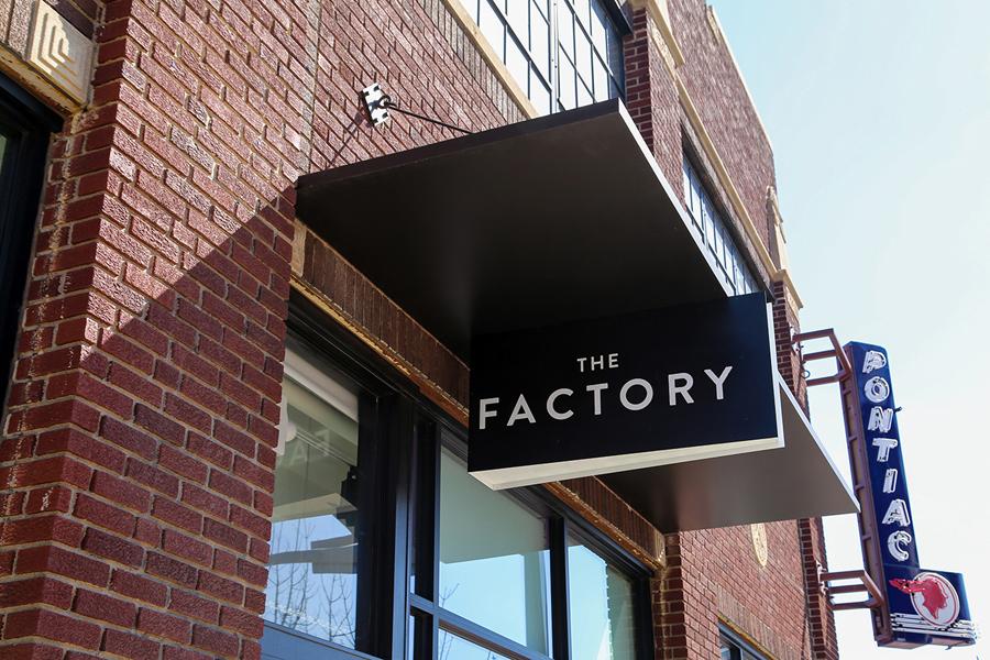 美国factory时装零售品牌vi设计,标识标牌设计