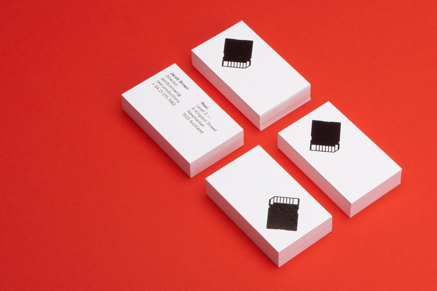 Reel数字创意制作公司品牌形象设计塑造,名片设计