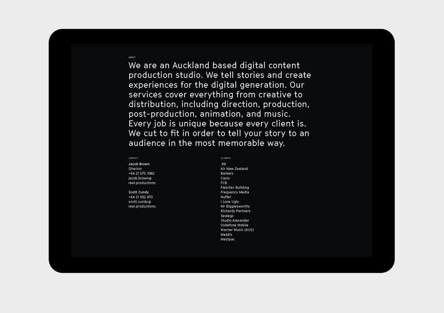 Reel数字创意制作公司品牌形象设计塑造,网站设计