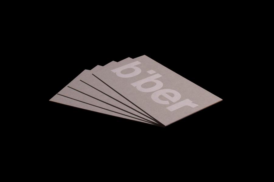 英国Biber建筑事务所品牌形象策划( 企业VI设计),名片设计
