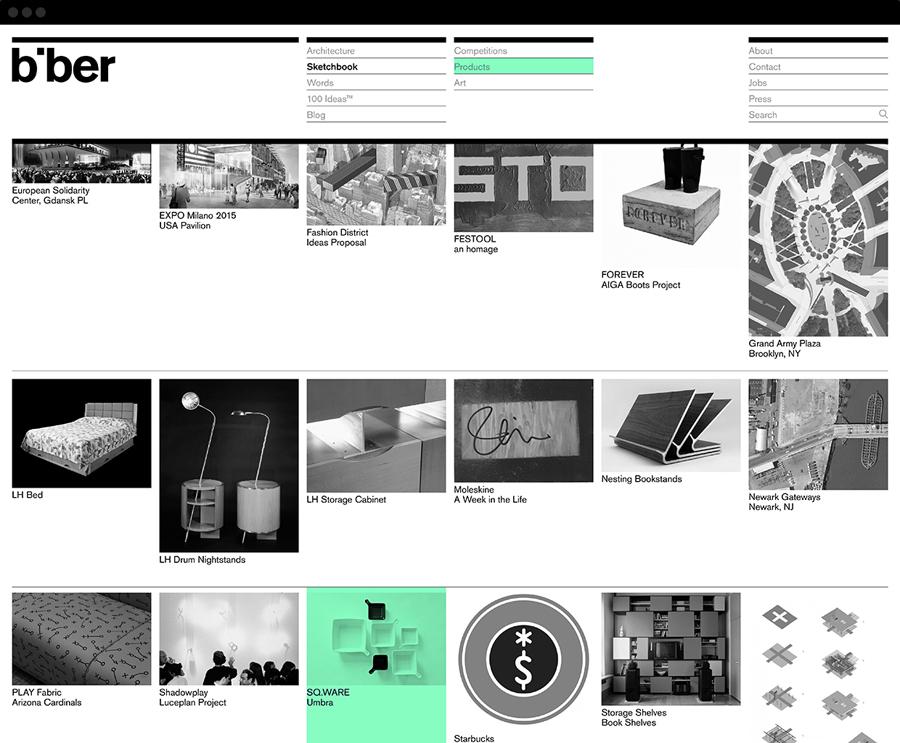 英国Biber建筑事务所品牌形象策划( 企业VI设计),公司网站设计