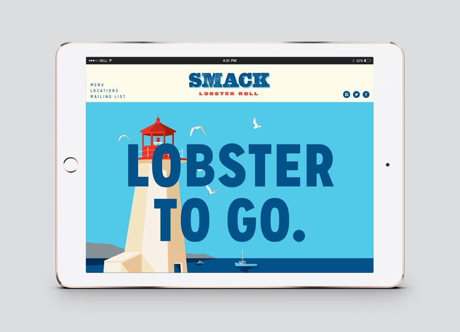 Smack外卖熟食店品牌定位与vi企业形象设计,网站设计