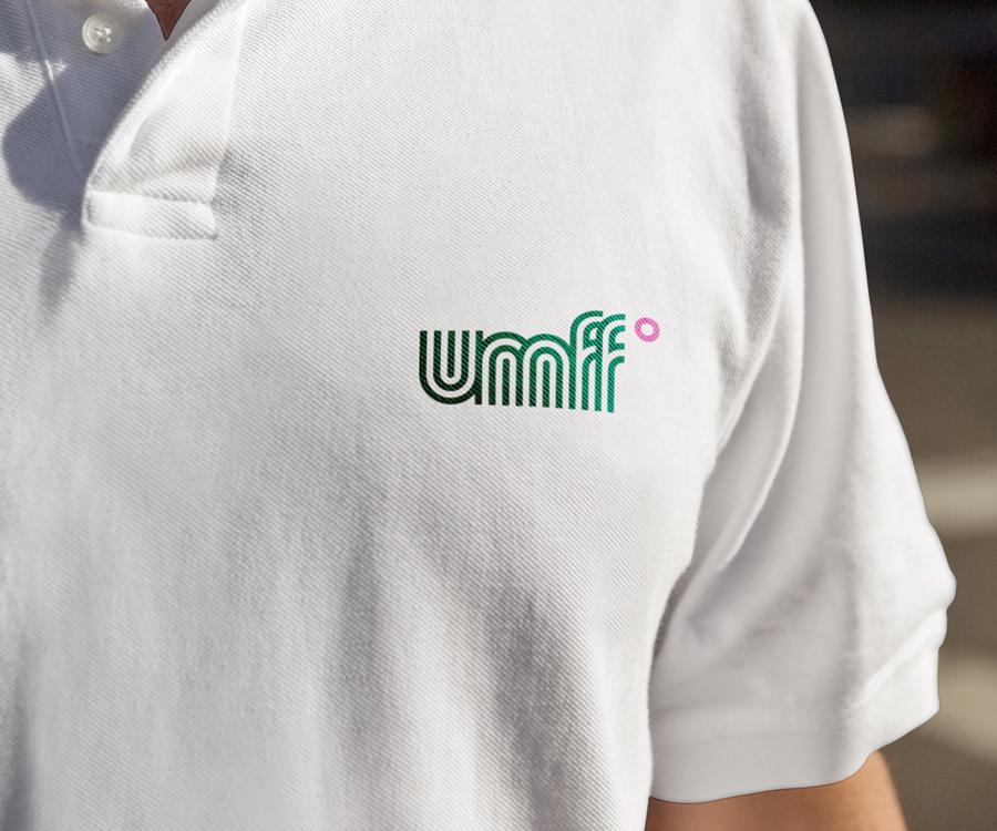 Branded t-shirt by Studio fnt for Ulju Mountain Film Festival