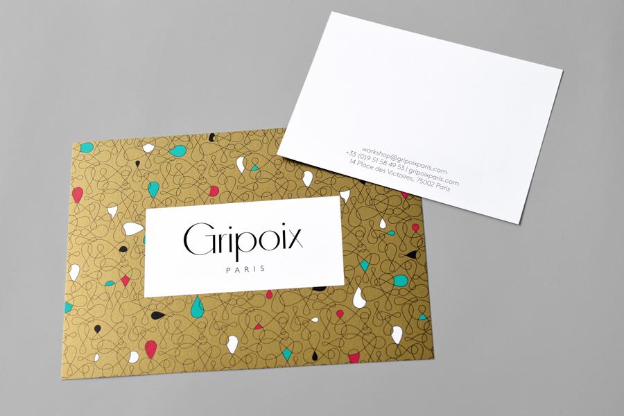 巴黎服装珠宝制造企业Gripoix品牌vi设计,信封设计
