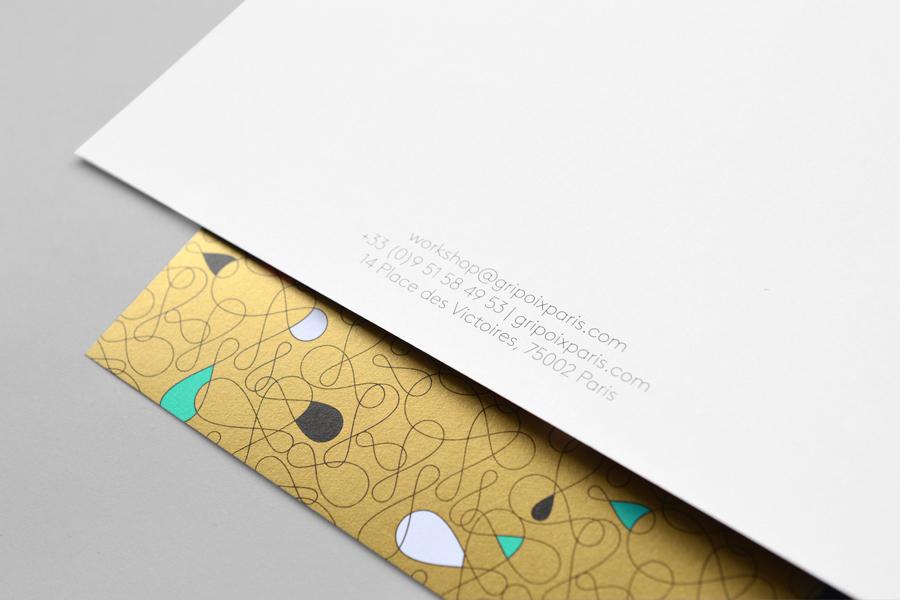 巴黎服装珠宝制造企业Gripoix品牌vi设计,印刷工艺