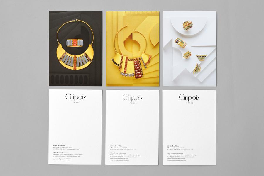 巴黎服装珠宝制造企业Gripoix品牌vi设计,产品广告设计