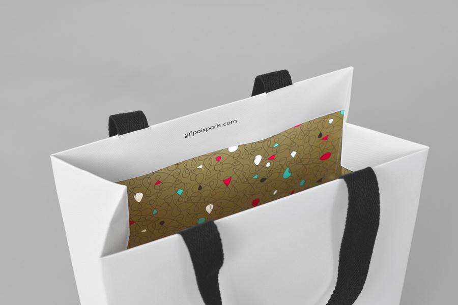 巴黎服装珠宝制造企业Gripoix品牌vi设计,手提袋设计