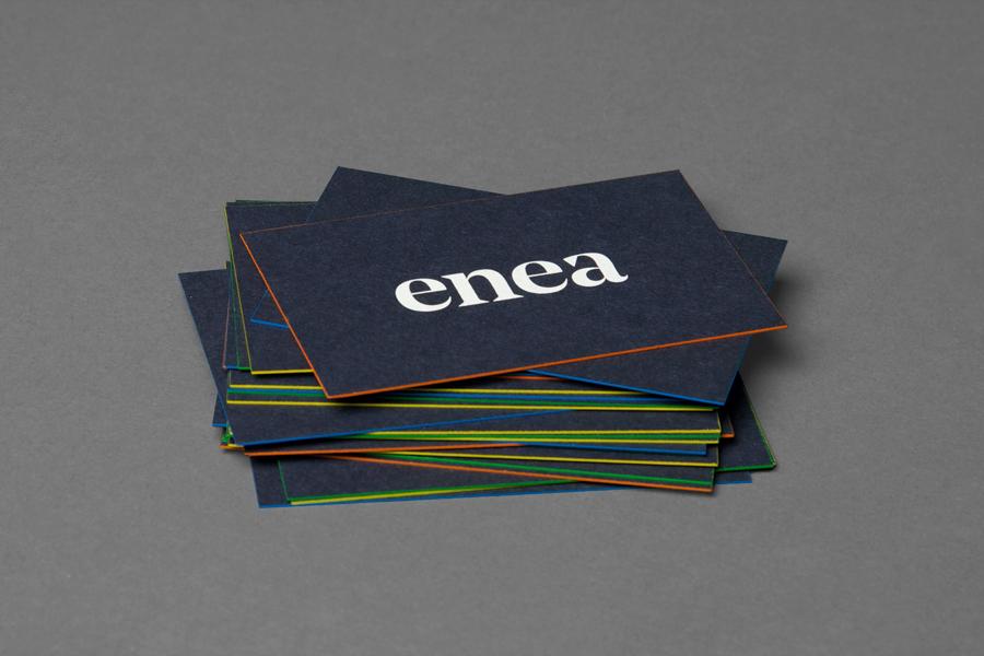Enea当代家具制造企业vi设计,名片设计